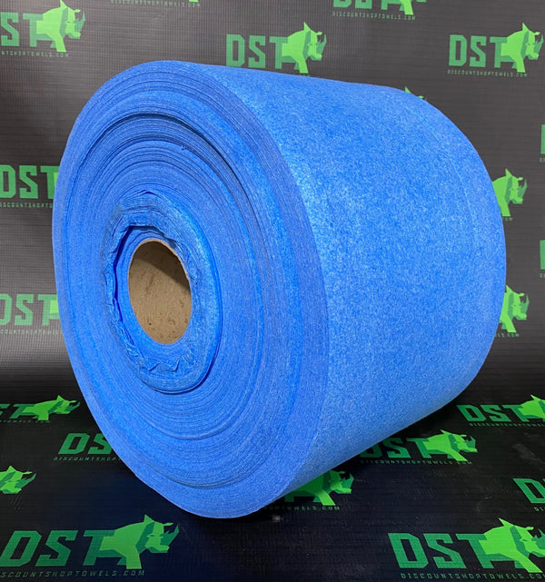 Blue Airlaid Roll with Core