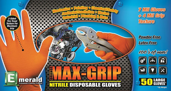 Max Grip Nitrile Disposable Gloves