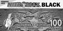 NitroMax Black Nitrile Disposable Gloves- 5 Mil