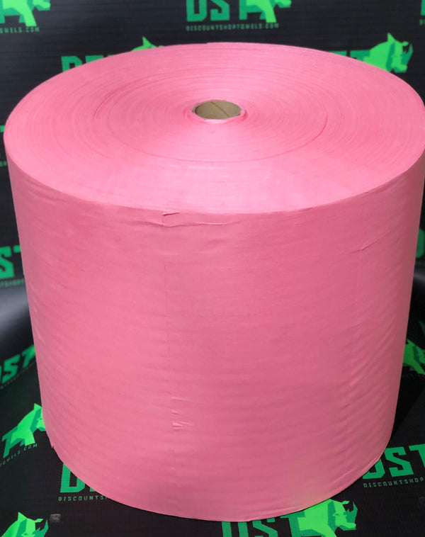 Proknit Jumbo Cored Red Roll Towel 2200 Sheets