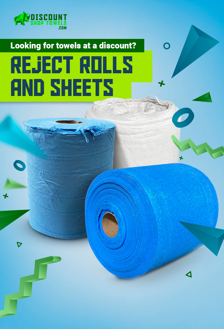 Reject Shop Towels - Shop Towel Imperfect/Reject Rolls and Sheets