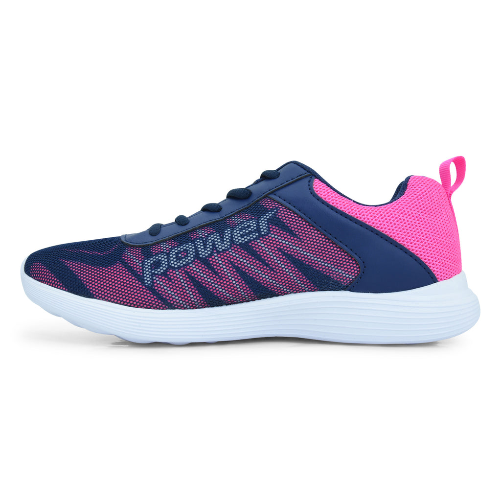Power Blue Lace-up Walking Sneaker for Women