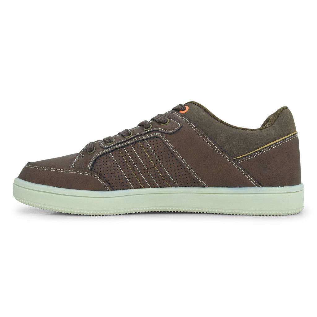 North Star Brown Lace-Up Sneaker for Men