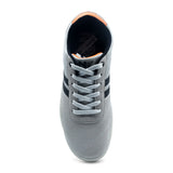North Star Grey Lace-Up Sneaker