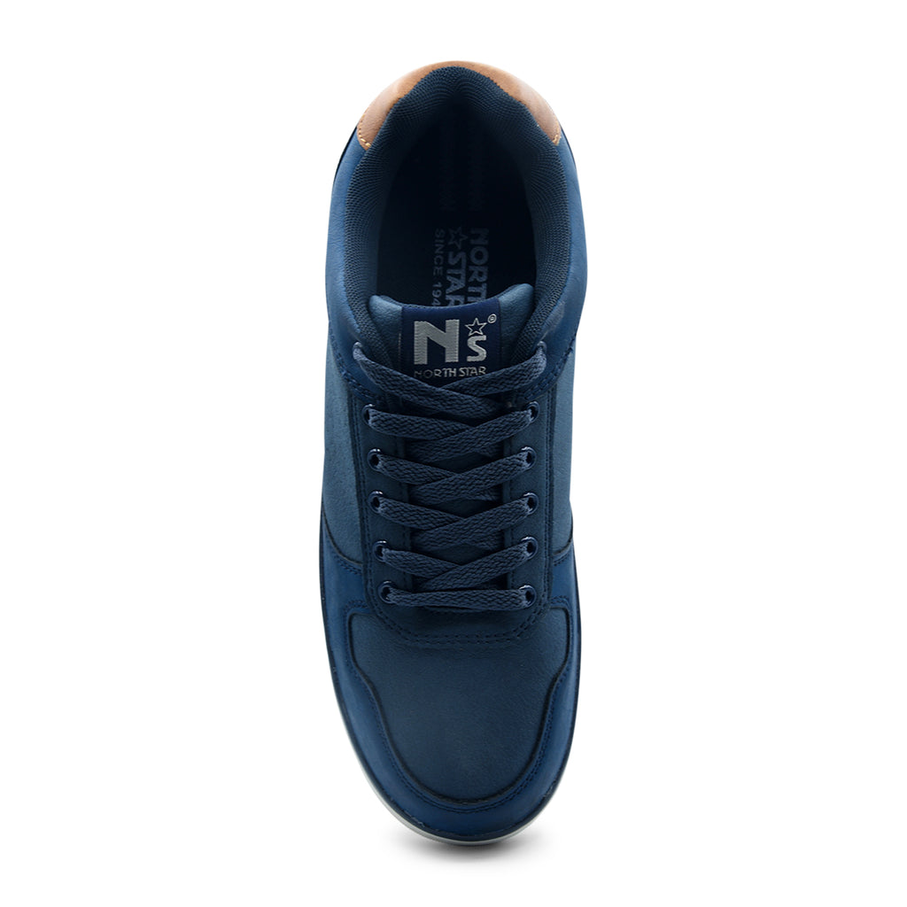 North Star Blue Lace-Up Sneaker for Men