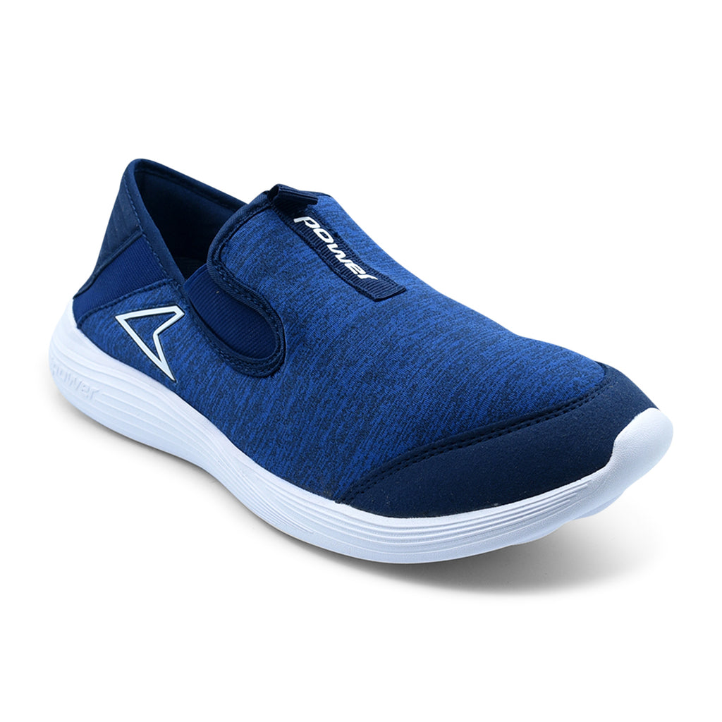 Blue Sporty Slip-On Sneaker for Men by Power
