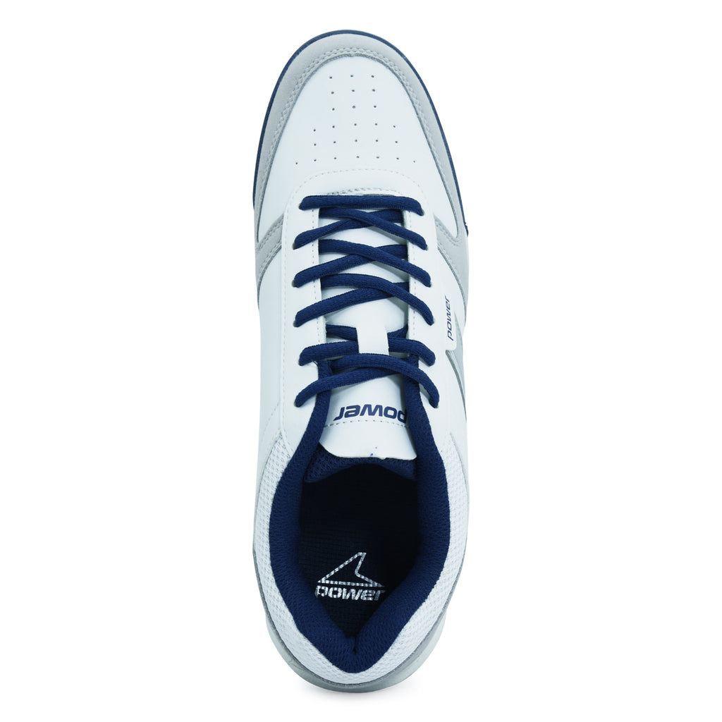 White Lace-up Sneaker for Men by Power