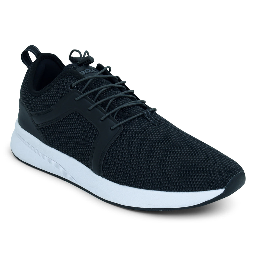Black Lace-Up Sneaker for Men by Power