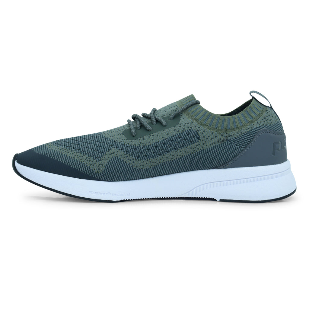 Power Green Lace-Up Sneaker