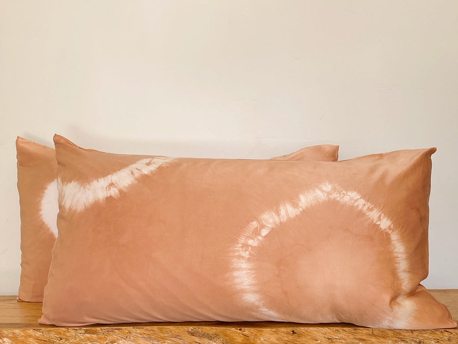 King Pillowcase Set: Nude Tie- dye