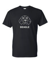 Load image into Gallery viewer, Beagle t-shirt crew neck black