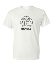 Load image into Gallery viewer, Beagle t-shirt crew neck white