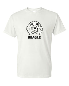 Beagle t-shirt crew neck white