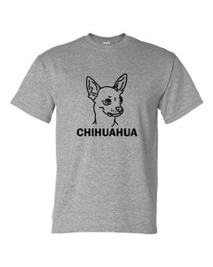 Chihuahua t-shirt crew neck grey