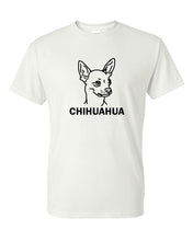 Load image into Gallery viewer, Chihuahua t-shirt crew neck black