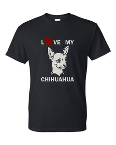 Love My Chihuahua t-shirt crew neck black