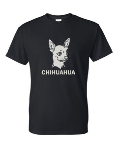 Chihuahua t-shirt crew neck black