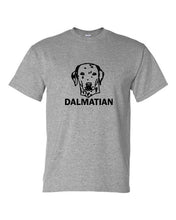Load image into Gallery viewer, dalmatian t-shirt crew neck grey