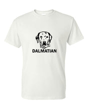 Load image into Gallery viewer, dalmatian t-shirt crew neck white