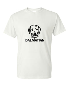 dalmatian t-shirt crew neck white