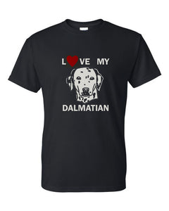 love my dalmatian t-shirt crew neck black