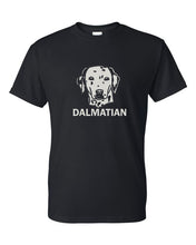 Load image into Gallery viewer, dalmatian crew neck t-shirt black