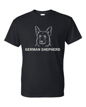Load image into Gallery viewer, German Shepherd t-shirt crew neck black