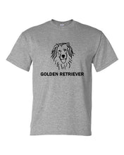 Load image into Gallery viewer, Golden Retriever t-shirt crew neck grey