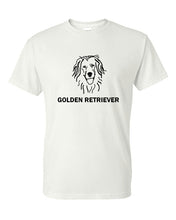 Load image into Gallery viewer, Golden Retriever t-shirt crew neck white