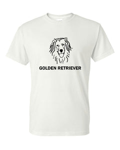 Golden Retriever t-shirt crew neck white