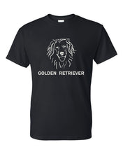 Load image into Gallery viewer, Golden Retriever t-shirt crew neck black