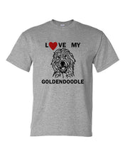 Load image into Gallery viewer, Love My Goldendoodle t-shirt crew neck grey