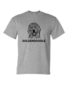 Goldendoodle t-shirt crew neck grey