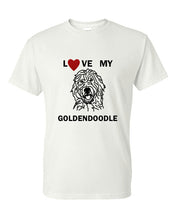 Load image into Gallery viewer, Love My Goldendoodle t-shirt crew neck white