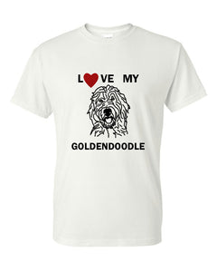 Love My Goldendoodle t-shirt crew neck white