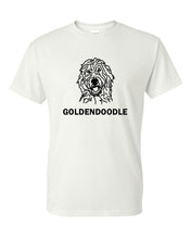 Load image into Gallery viewer, Goldendoodle t-shirt crew neck white