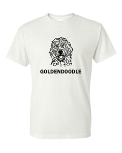 Goldendoodle t-shirt crew neck white