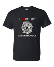 Load image into Gallery viewer, Love My Goldendoodle t-shirt crew neck black