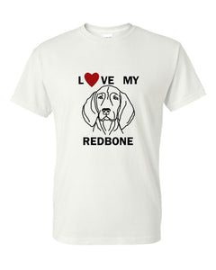 Love My Redbone t-shirt crew neck white
