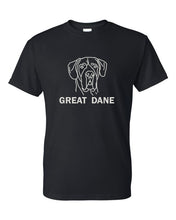 Load image into Gallery viewer, Great Dane t-shirt crew neck black