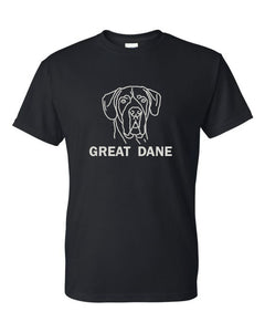 Great Dane t-shirt crew neck black