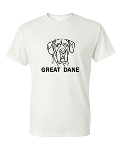 Great Dane t-shirt crew neck grey
