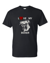 Load image into Gallery viewer, Love My Boxer t-shirt crew neck black