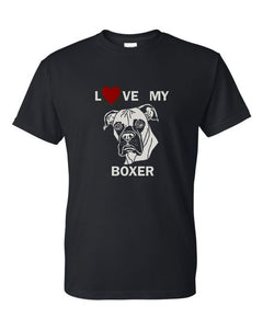 Love My Boxer t-shirt crew neck black