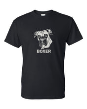 Load image into Gallery viewer, Boxer t-shirt crew neck black