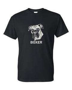 Boxer t-shirt crew neck black