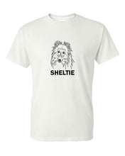 Load image into Gallery viewer, Sheltie t-shirt crew neck white