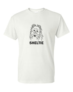 Sheltie t-shirt crew neck white