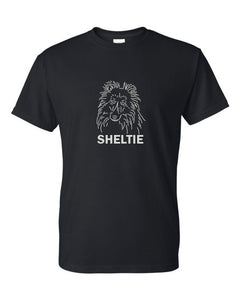 Sheltie t-shirt crew neck black
