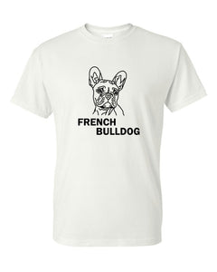 French Bulldog t-shirt crew neck white